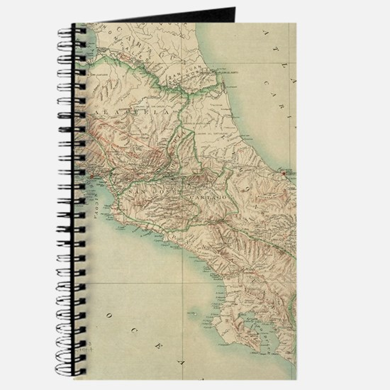 Vintage Map of Costa Rica (1903) Journal