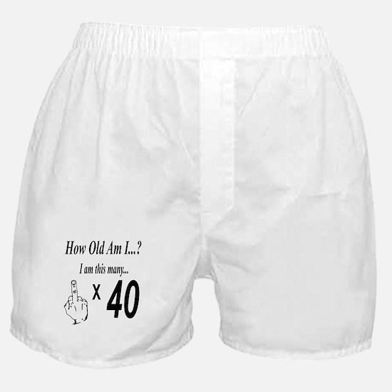 Cute Happy 40th birthday Boxer Shorts