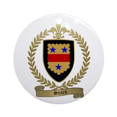 SEARS Family Crest Ornament (Round)