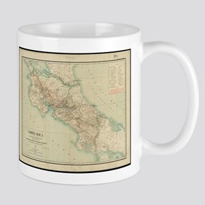 Vintage Map of Costa Rica (1903) Mugs