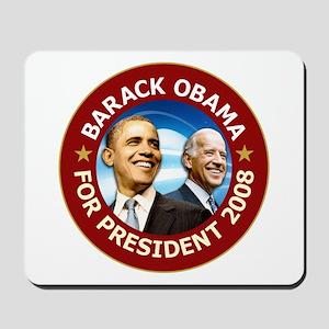 Obama 2008 Deep Red Mousepad