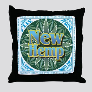 New Hemp Throw Pillow
