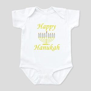 Happy Hanukah Menorah Infant Bodysuit