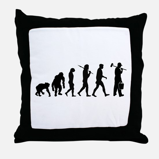 Painter Evolution Throw Pillow