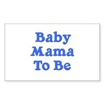 Baby Mama to Be Rectangle Sticker 50 pk)
