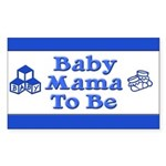 Baby Mama to Be Rectangle Sticker