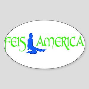 Feis America Male Logo Oval Sticker