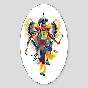 Native Dancer Oval Sticker