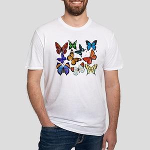 Butterflies Fitted T-Shirt