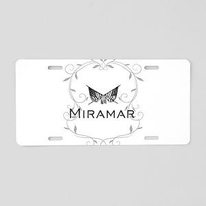 Miramar Aluminum License Plate