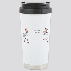 Caffeine Chick Stainless Steel Travel Mug