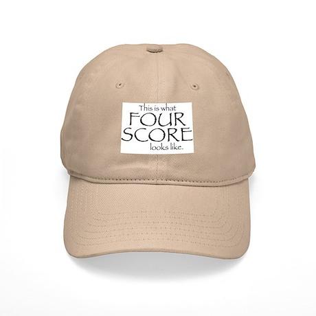 Four Score Baseball Cap by virtualitee a4a4b7e3d6e