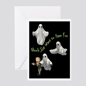 Ghouls Just Want To Have Fun Greeting Card