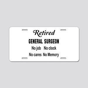 Retired General Surgeon Aluminum License Plate