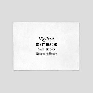 Retired Gandy dancer 5'x7'Area Rug