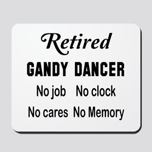 Retired Gandy dancer Mousepad