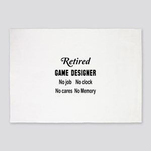 Retired Game designer 5'x7'Area Rug