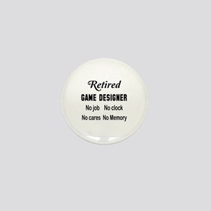 Retired Game designer Mini Button