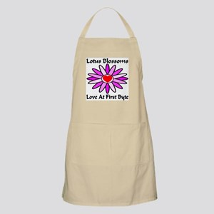 Lotus Blossoms Love At First Byte BBQ Apron