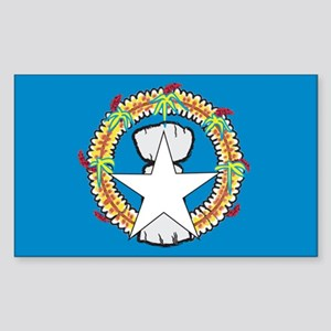 Northern Mariana Islands Rectangle Sticker