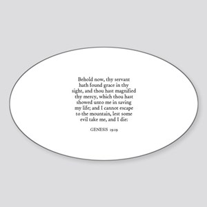 GENESIS 19:19 Oval Sticker
