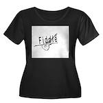 Fiddle Women's Plus Size Scoop Neck Dark T-Shirt