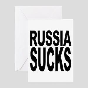 Russia Sucks Greeting Card