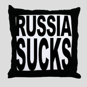 Russia Sucks Throw Pillow