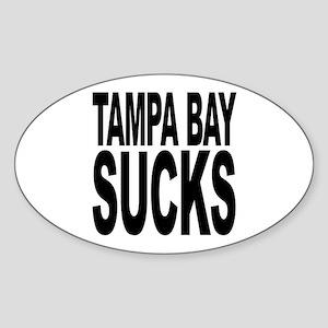 Tampa Bay Sucks Oval Sticker