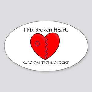 Heart Mender ST Oval Sticker (10 pk)