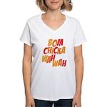 Bom Chicka Wah Wah Women's V-Neck T-Shirt