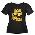 Bom Chicka Wah Wah Women's Plus Size Scoop Neck Da
