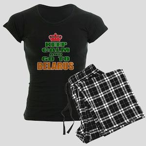 Keep Calm And Go To Belarus Women's Dark Pajamas