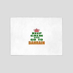 Keep Calm And Go To Bahrain Country 5'x7'Area Rug