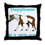 Warm Pony Throw Pillow