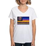 new world flag Women's V-Neck T-Shirt
