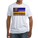 new world flag Fitted T-Shirt
