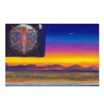 new world flag Postcards (Package of 8)
