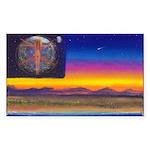 new world flag Rectangle Sticker 10 pk)