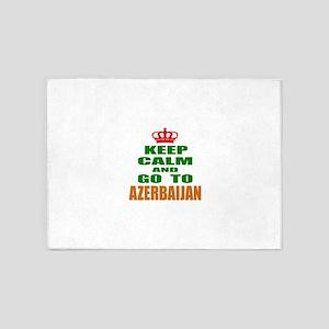 Keep Calm And Go To Azerbaijan Coun 5'x7'Area Rug