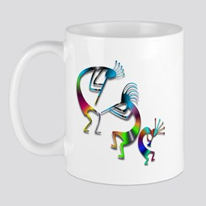 Three Colorful Kokopellis Mug