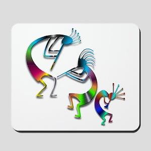Three Colorful Kokopellis Mousepad