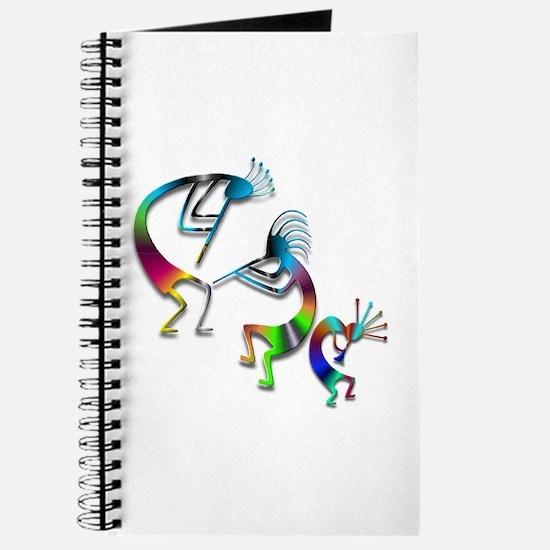 Three Colorful Kokopellis Journal
