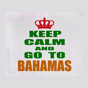Keep Calm And Go To Bahamas Country Throw Blanket