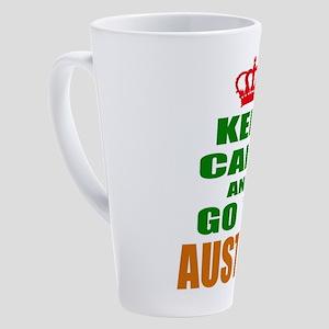 Keep Calm And Go To Austria Countr 17 oz Latte Mug