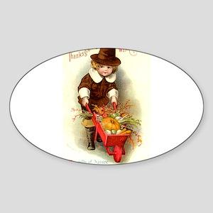 Little Pilgrim Oval Sticker
