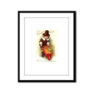 Little Pilgrim Framed Panel Print