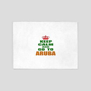 Keep Calm And Go To Aruba Country 5'x7'Area Rug