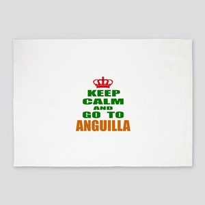 Keep Calm And Go To Anguilla Countr 5'x7'Area Rug