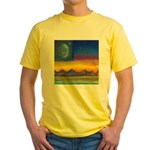 63.neworld flag w/flower of life..? Yellow T-Shirt